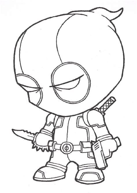 Coloring Page Deadpool by Deadpool Coloring Pages For S Coloring Pages
