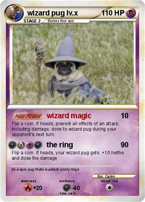 wizard pug pok 233 mon wizard pug lv x wizard magic my card