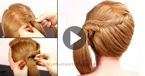 learn easy hairstyles at home learn how to make simple and easy fishtail braid