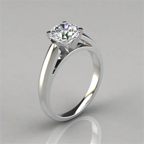 Solitaire Engagement cathedral cut solitaire engagement ring puregemsjewels