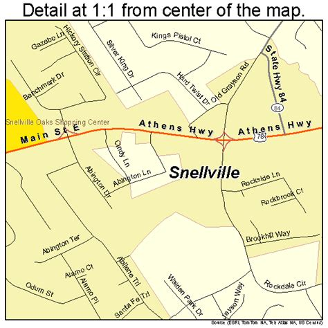 snellville georgia street map 1371604