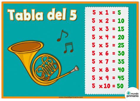 tabla 5 con instrumentos musicales