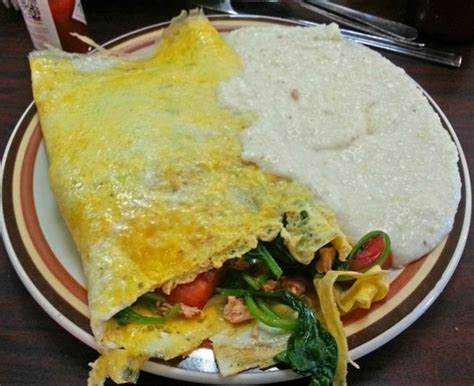 Omelette House by A Filling And Healthful Spinach Etc Omelette Picture Of
