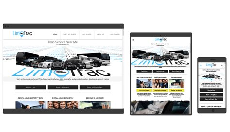 best limo service near me veer mobile web design responsive limo service websites