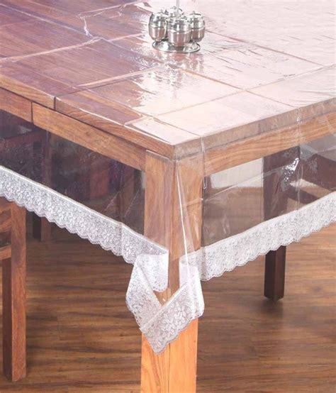 Dining Table Plastic Cover Kuber Industries Dining Table Cover Transparent 6 Seater Buy Kuber Industries Dining Table