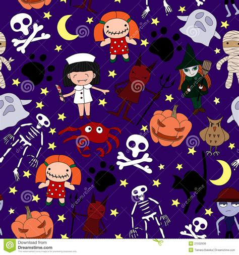 pattern html special characters funny halloween characters seamless pattern vector