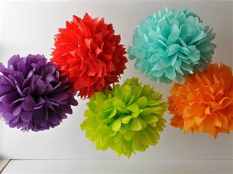 Tissue Paper Pom Poms - ashtonishing do it yourself paper pom poms