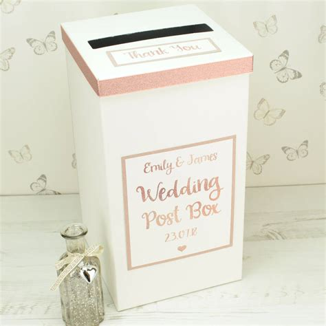Wedding Card Post Box by Personalised Gold Wedding Post Box By Dreams To