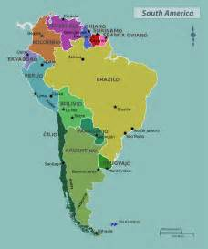 south america countries and capitals map maps of south america and south american countries