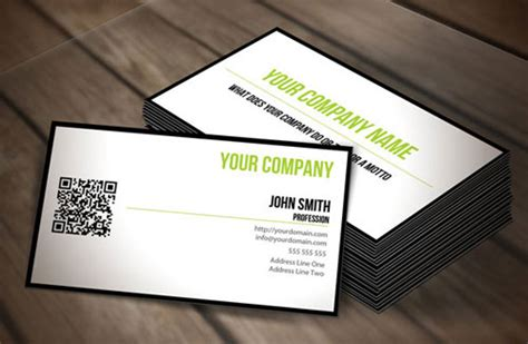 business card qr code template business card template with qr code gallery card design