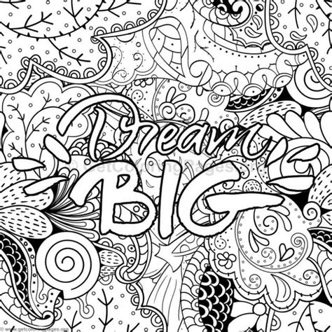 Coloring Page Words by Inspirational Word Coloring Pages