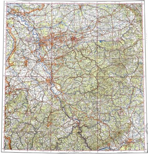 germany topographic map topographic map in area of essen koln