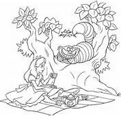 Stampa Disegno Di Alice E Lo Stregatto Da Colorare