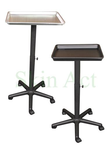 tray table with wheels tray with stand and wheels in black or silver day spa