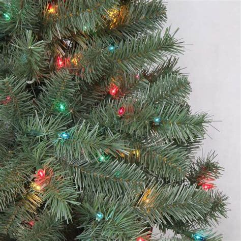 colored trees artificial 6 5 ft verde spruce artificial tree with 400