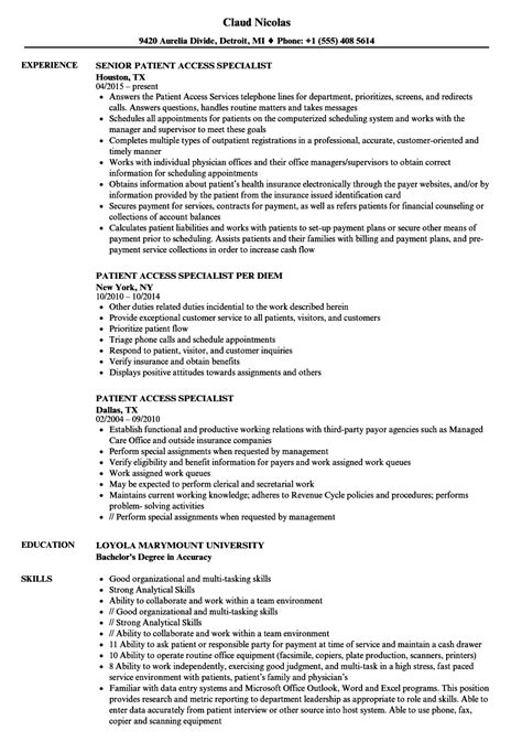 Licensed Electrician Cover Letter by Patient Access Specialist Licensed Electrician Cover Letter
