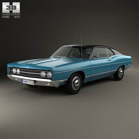 1969 ford galaxie ford galaxie 500 fastback 1969 3d model humster3d