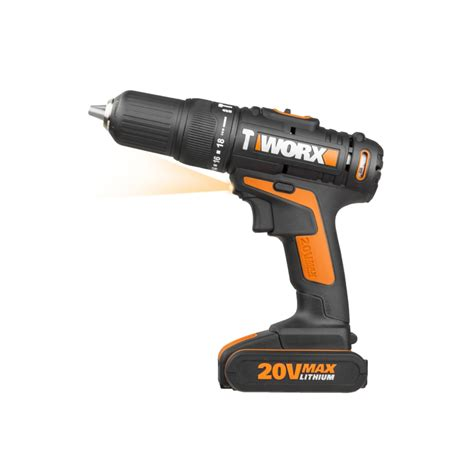 worx   max cordless hammer drill   ah battery wx worx