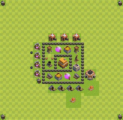 layout cv nivel 4 clash of clans layout de defesa clash of clans n 237 vel da centro de vila