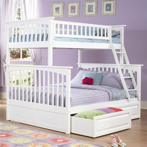 twin over double bunk bed homeofficedecoration white twin over full bunk bed