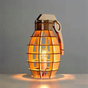 Decorative Lamps For Home by Decorative Military Style Wooden Table Lamp Contemporary