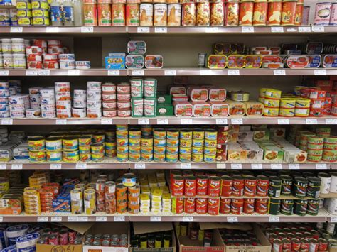 Shelf Of Canned stanford researcher finds link between canned food and exposure to hormone disrupting chemical