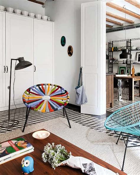 retro interior design barcelona style retro modern interior design project by