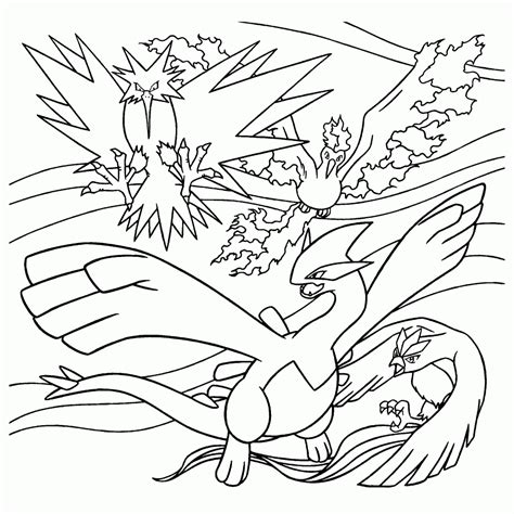 pokemon coloring pages articuno pokemon paradijs kleurplaat zapdos moltres lugia en