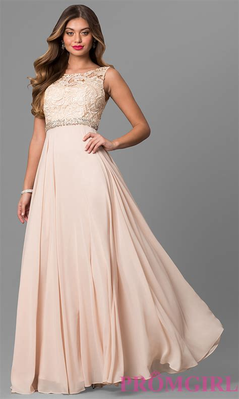 laced bodice chiffon prom dress promgirl