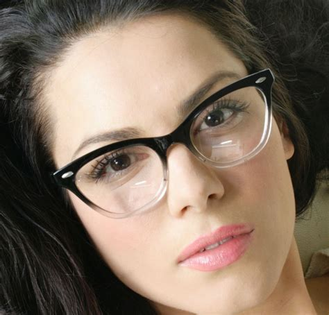 Cat With Glasses Black retro vintage fashion clear lens cat eye black
