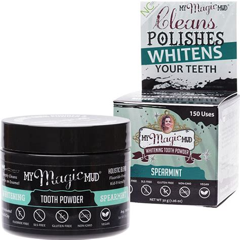 magic mud whitening tooth powder spearmint