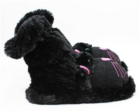 black fuzzy slippers black cat slipper socks aroma home slippers cat slippers