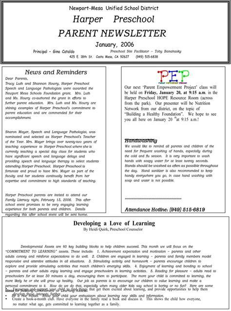 16 Preschool Newsletter Templates Easily Editable And Printable Newsletter For Preschool Parents Template