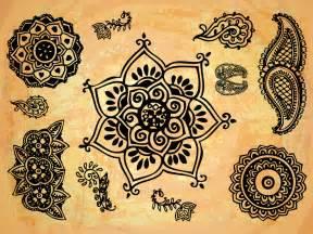 Lotus Flower Pattern Design Indian Textures