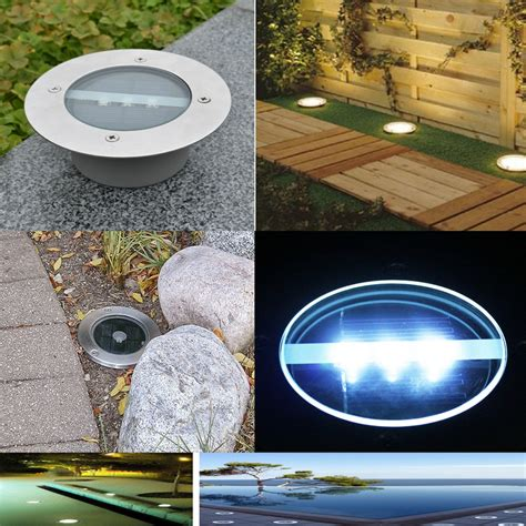 in ground pathway lights 1 5 10pc solar led in ground l outdoor stainless