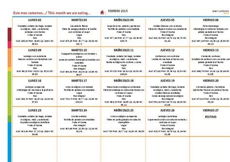 menu comedor escolar 250 comedor escolar febrero 2015 ceip arias