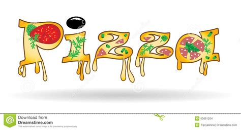 Letter Pizza Word Of The Letters Of Pizza Stock Vector Image 50691204