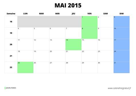 Calendrier Mai 2015 Calendrier De Mai 2015 224 Imprimer