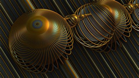 wallpaper digital art abstract render spiral sphere