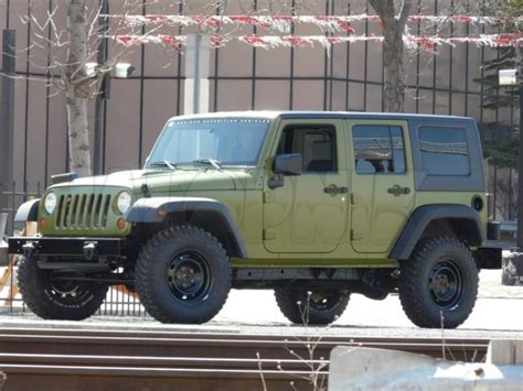 jeep wrangler military style aev working on jeep wrangler j8 unlimited military package