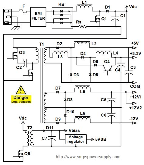 computer power supply wiring diagram efcaviation