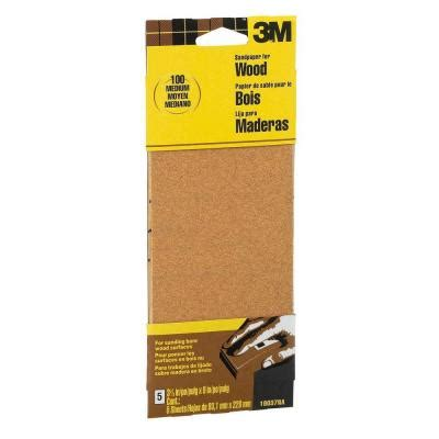 3m 3 2 3 in x 9 in 100 grit medium garnet sand paper 6
