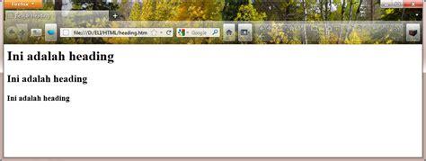 membuat judul html desain website membuat judul di html