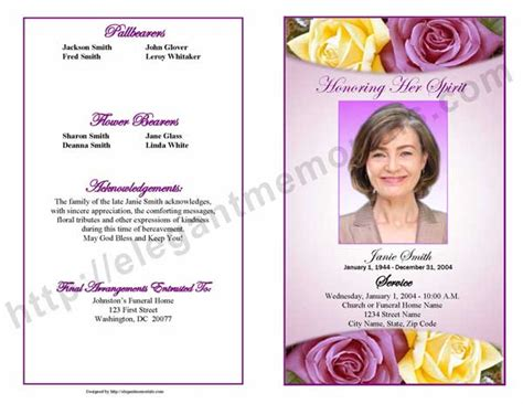 funeral program examples archives funeral programs blog