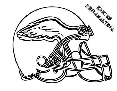 Eagles Football Helmet Coloring Pages | how to draw a football helmet cliparts co
