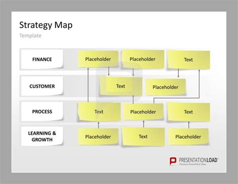 strategy map powerpoint templates canvas with structured