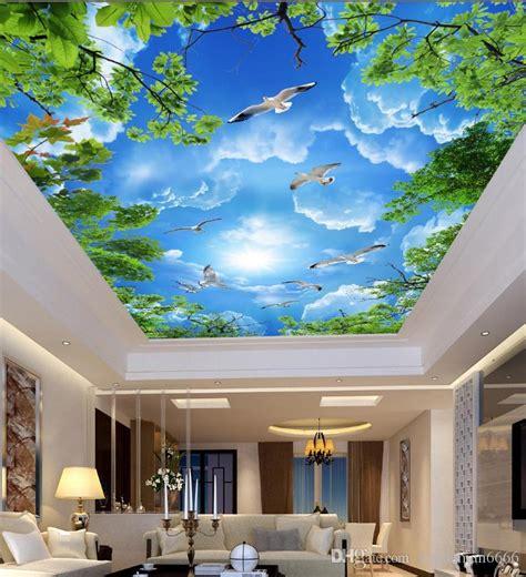home improvement ceiling murals wallpaper blue sky white