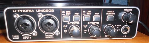 Soundcrad Behringer Umc 202 Hd u phoria umc202hd behringer u phoria umc202hd audiofanzine
