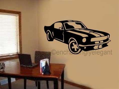 wall stickers teenage bedrooms mustang shelby car vinyl decal wall sticker office shop teen boy room decor art ebay