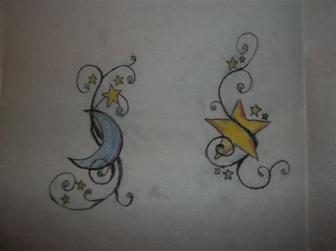 moon and star tattoos moon and by weirdodds on deviantart